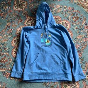 "Patagonia ""Live Simply"" hoodie.  Women's sz L"